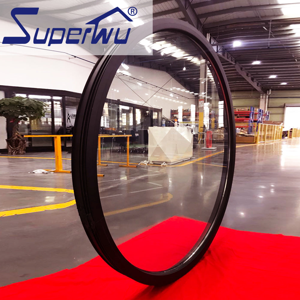 Superwu 2021AS2047 NFRC Impact resistance hurricane proof arch fixed round window
