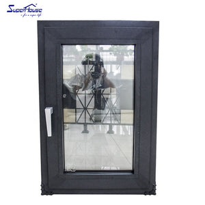 Superhouse 2021Aluminum frame tempered glass swing window for commercial and residential project