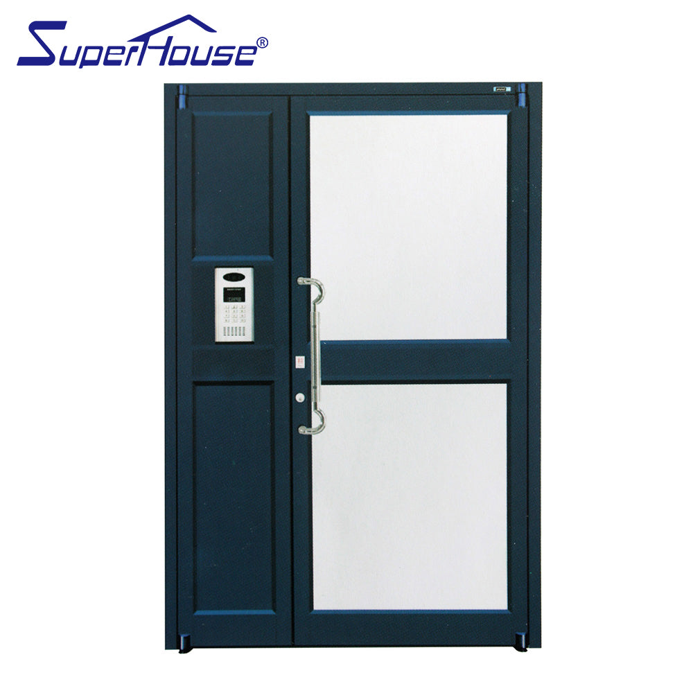 Superwu 2021Best sale commercial casements doors hinge doors for KFC french doors aluminum alloy