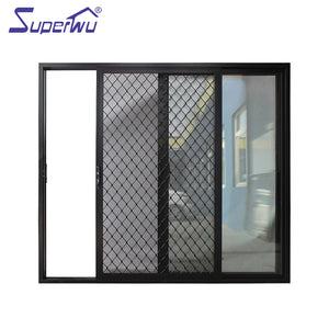 Superwu 2021Modern hurricane impact partition wall glass aluminium sliding doors