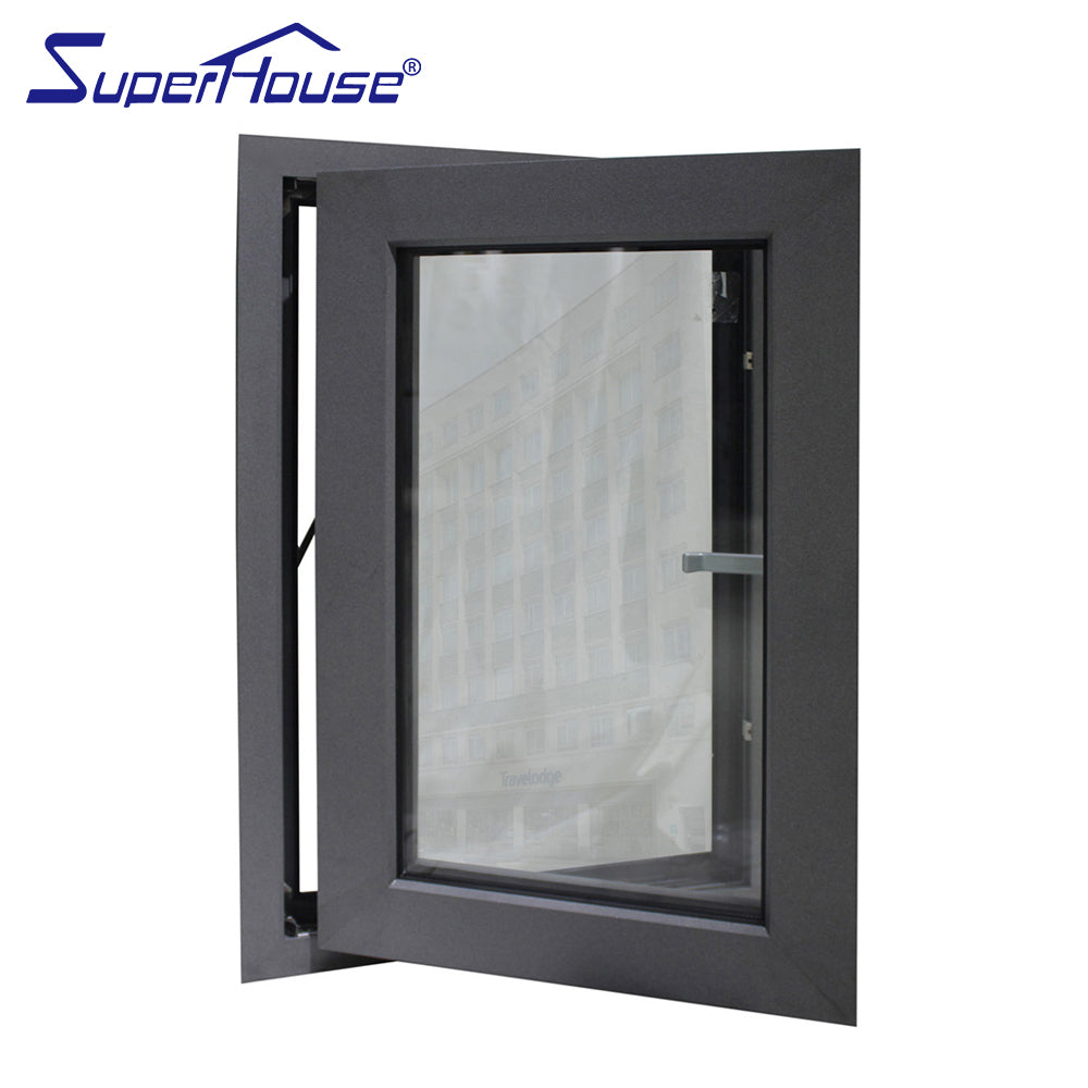 Superhouse 2021North America NFRC and NOA standard high quality double glass double glass aluminum casement windows