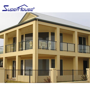 Superwu 2021Australia standard high quality factory direct sale aluminum alloy&glass fence or handrail or balustrade