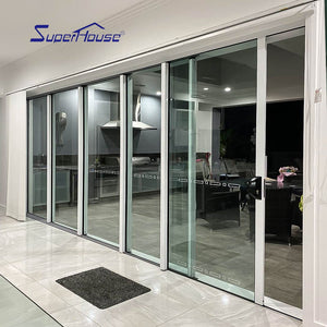 Superhouse 2021Exterior aluminum modern sliding doors with double glass