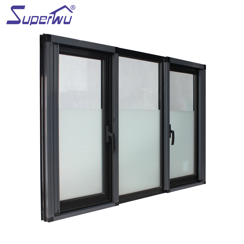 Superwu 2021Double glass aluminum casement windows for home building high quality profiles swing windows