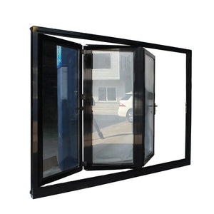 Superwu 2021Aluminum glass bi folding doors patio double glazed accordion doors design