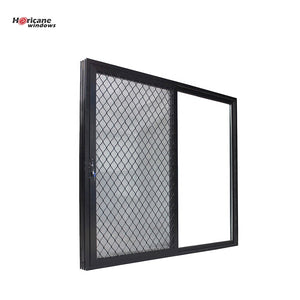 Superhouse 2021Australian standards custom security black aluminium sliding glass windows with mosquito net