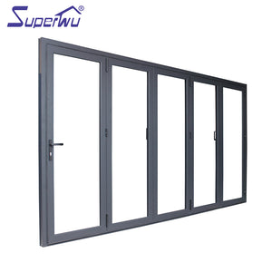Superwu 2021Aluminium thermal break tempered glass exterior bi folding entry doors