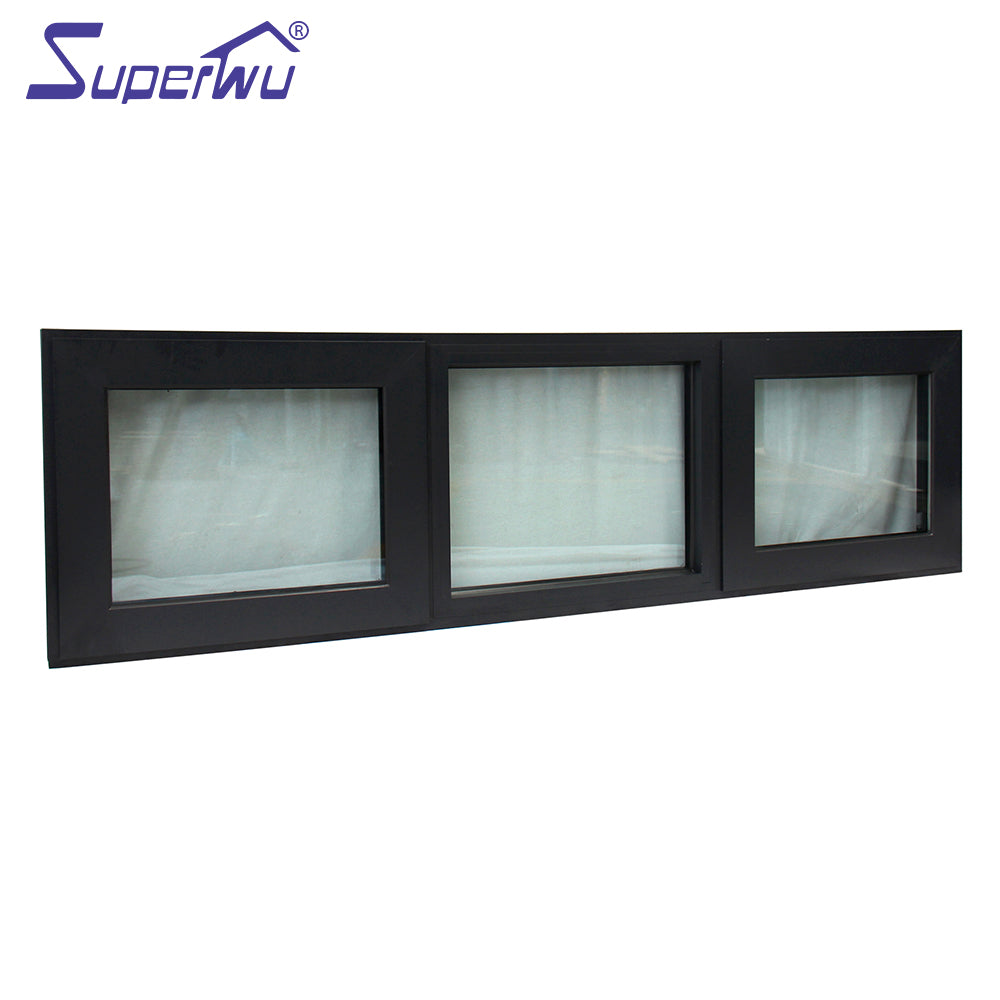 Superwu 2021Tempered Clear Glass Water Resistant Commercial Double Glazed Awning Windows