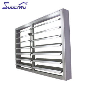 Superwu 2021Aluminium External Shutters With Security Mesh Power Electric