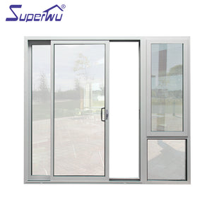 Superwu 2021Aluminum multi sliding door patio door tempered Glass sliding door AS2047
