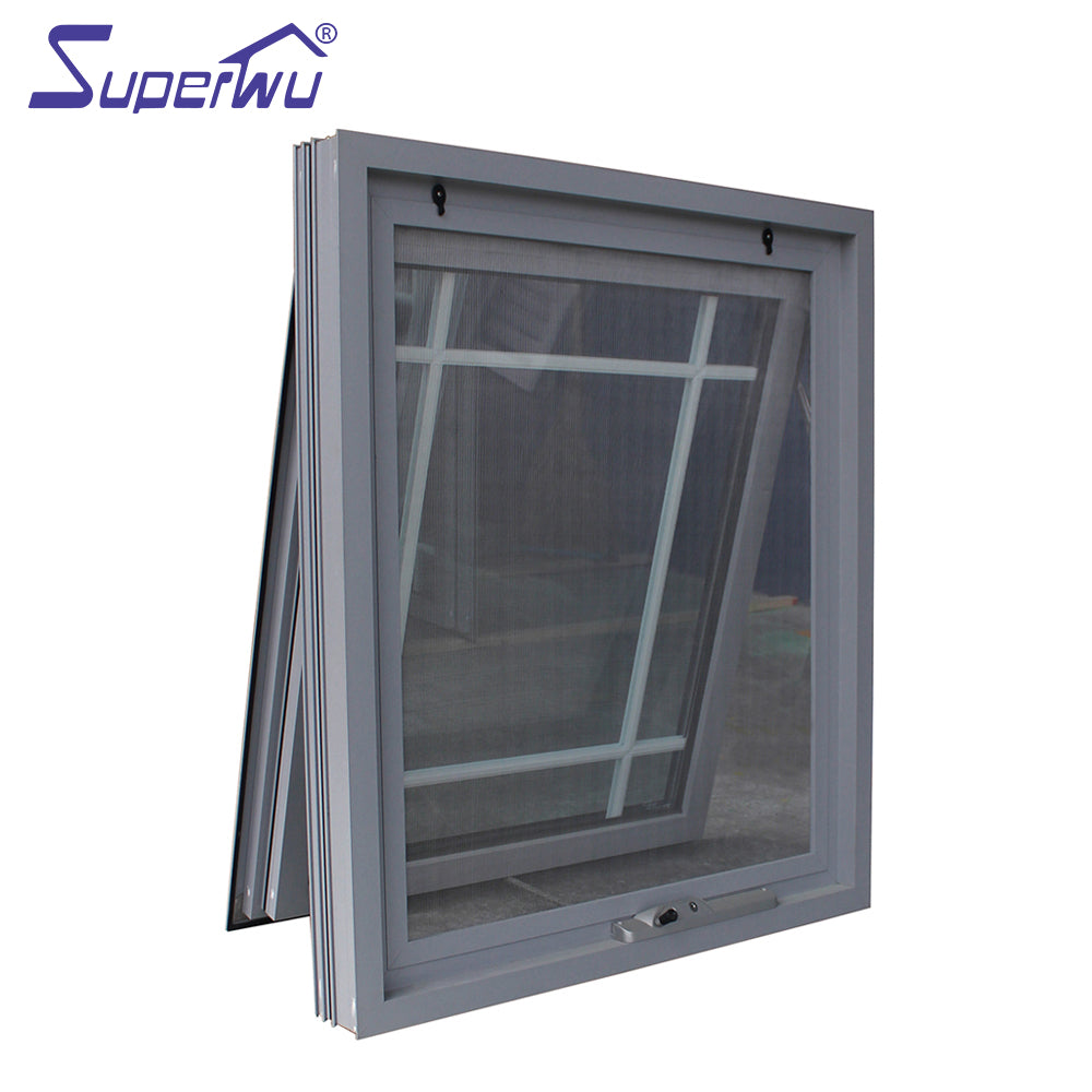 Superwu 2021Miami area Aluminium Awning Window with impacted glass