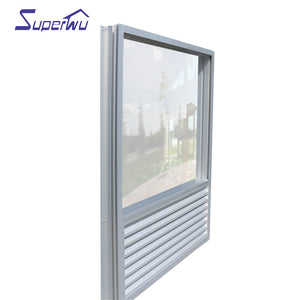 Superwu 2021Australia standard aluminum fixed windows with louver windows best quality factory direct supply