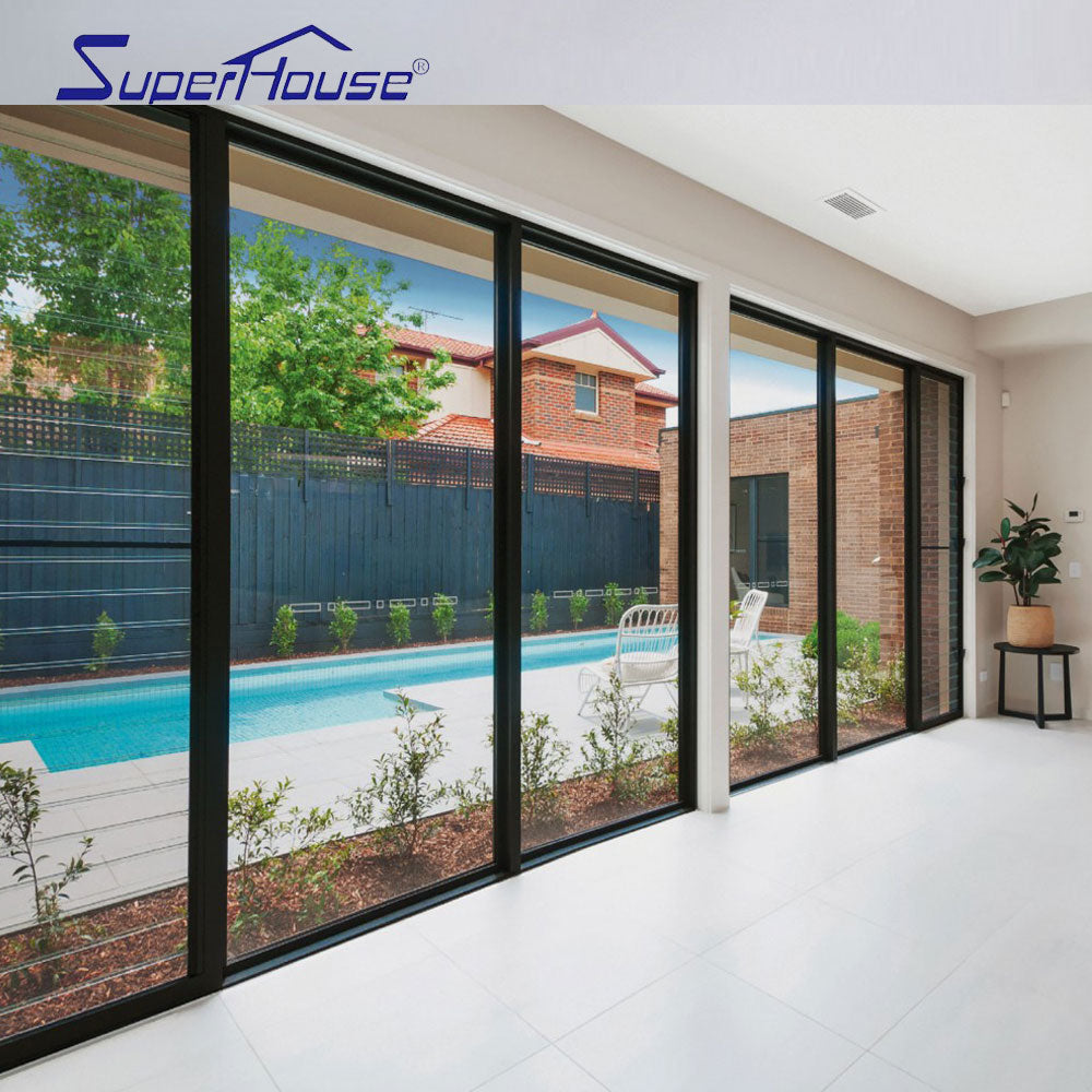 Superhouse 2021Factory manufacture wholesale building project aluminum glazed sliding window door