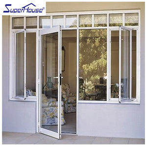 Superhouse 2021Aluminum frame glass swing door with side window
