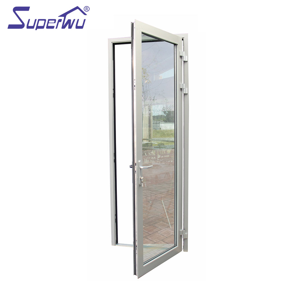 Superwu 2021Aluminum hinged doors double main design for smart home automation system