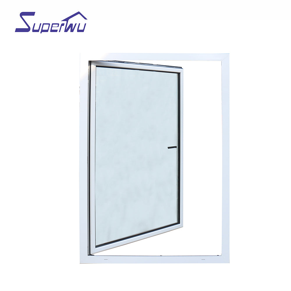 Superwu 2021certified supplier hurricane proof aluminium double glazed tilt and turn window