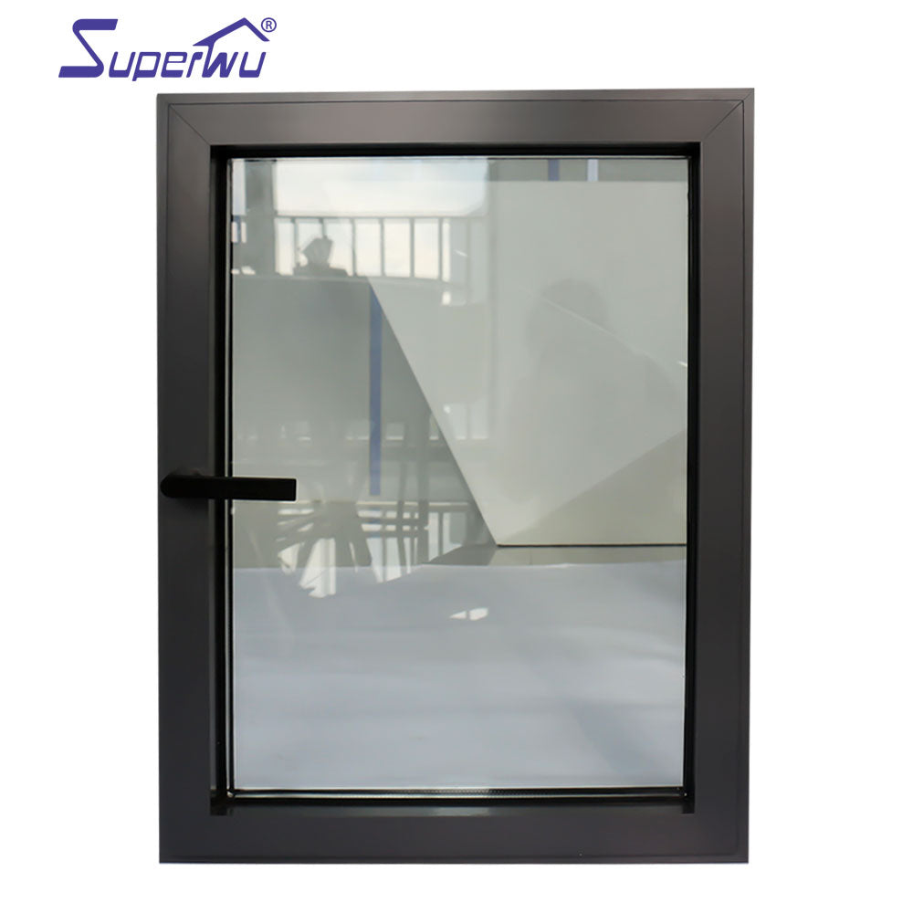 Superwu 2021bullet proof glass window double glazed aluminum casement windows