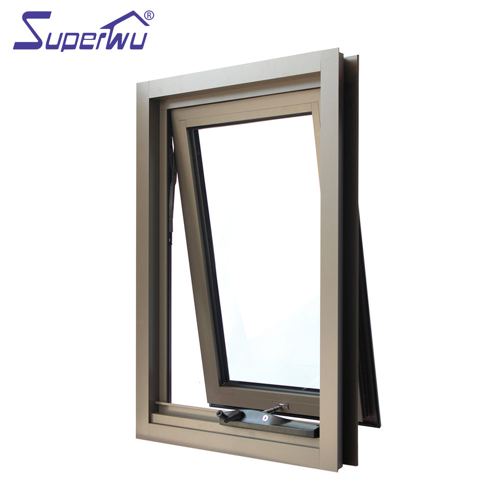 Superwu 2021Australia standard AS2047 chain winder awning window vertical opening double glazed window
