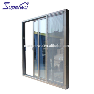 Superwu 2021Factory hot sale aluminum tempered glass door price doors for balcony double glazed aluminium design with fair