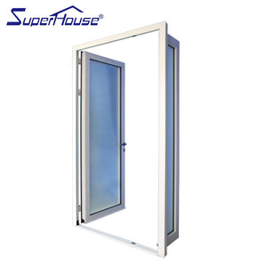 Superhouse 2021Residential house use double french doors with white powder coating surface