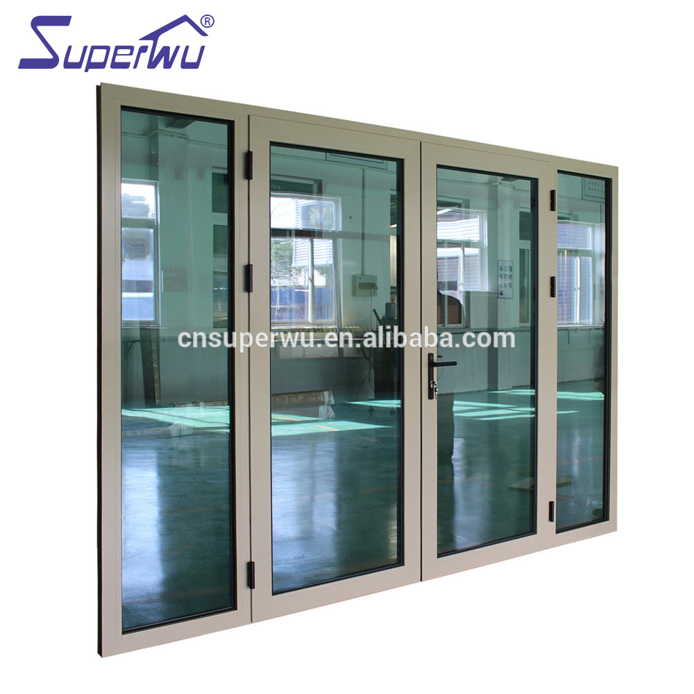 Superwu 2021NFRC standard wind proof bullet proof security door Laminated glass french casement door