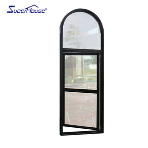 Superhouse 2021Arched design EU style casement windows with colony bar