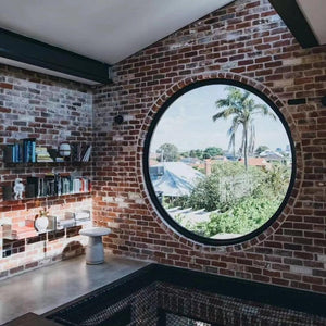 Superwu 2021Housetop used circular glass aluminum fixed window as glass skylight