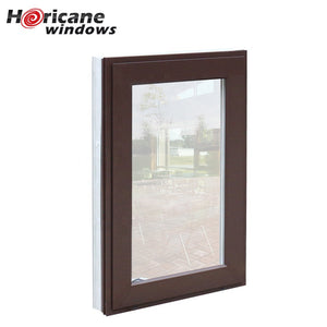 Superhouse 2021NFRC Approved large anodized commercial aluminum casement hurricane impact windows for sale