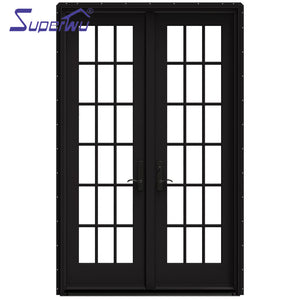 Superwu 2021Top Sale Manufacturer Pvc Swing Office Building Modern Villa School Plastic Warehouse with The Blinds Inside Swing Doors Park