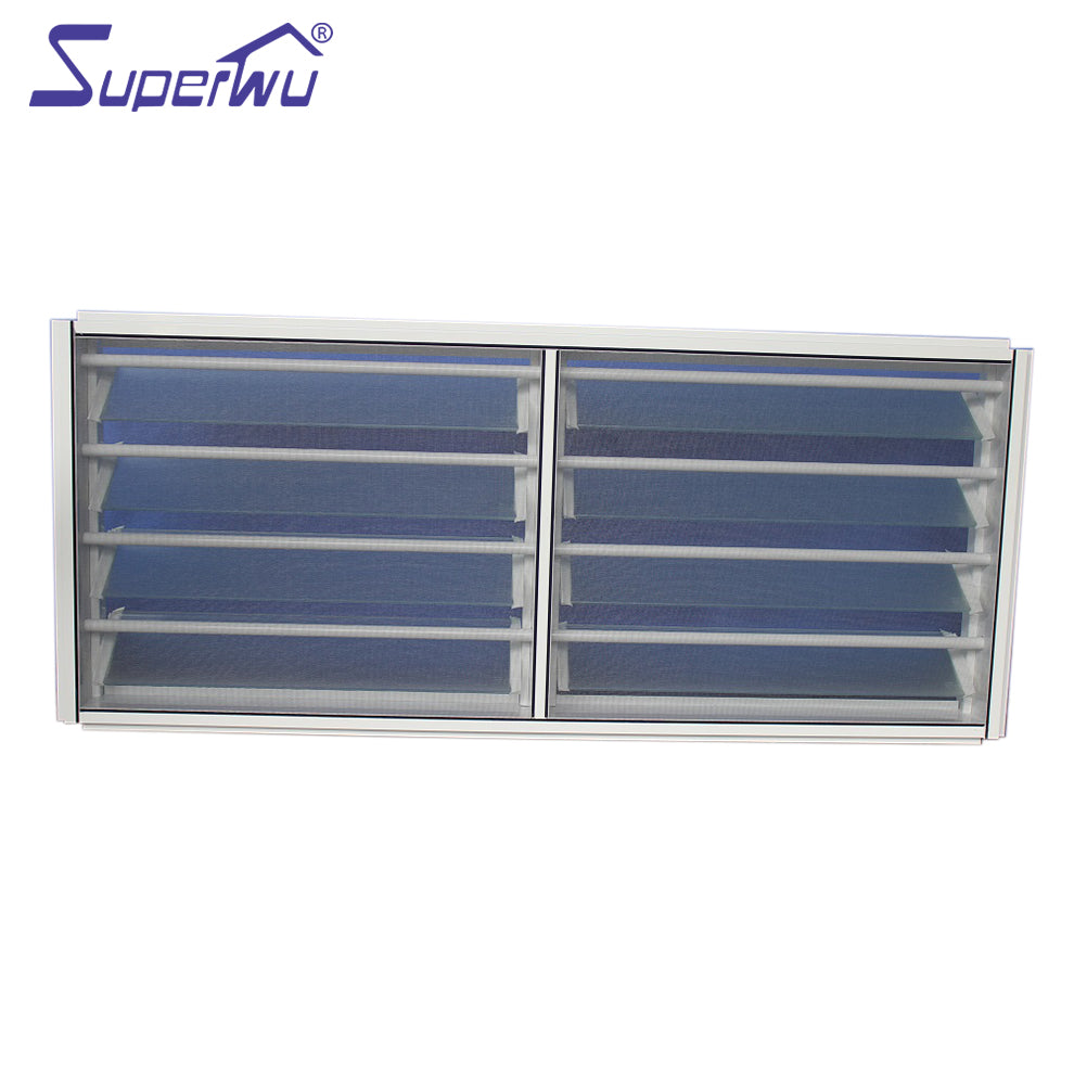 Superwu 2021Aluminum Jalousie Window Frames Louvre With Adjusting Blades