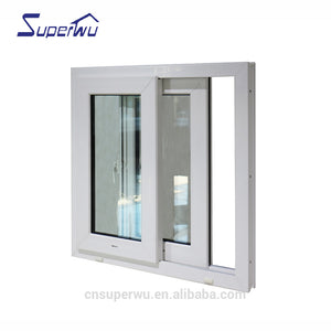 Superwu 2021prefabricated Used commercial windows tempered glass cheap aluminium sliding window