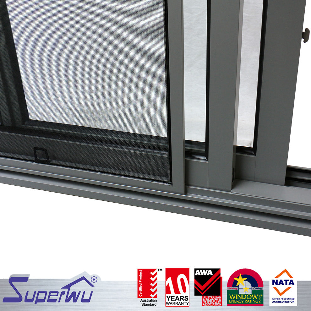 Superwu 2021Aluminum Trailers Sliding Window Aluminum Alloy Office Building Modern Industrial Villa with Philippines Price Warehouse School
