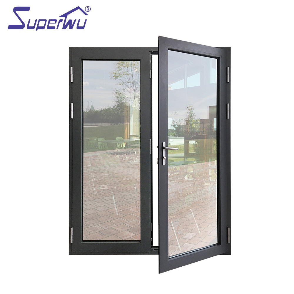 Superwu 2021aluminum doors and windows suppliers energy saving modern designs mobile home used french doors