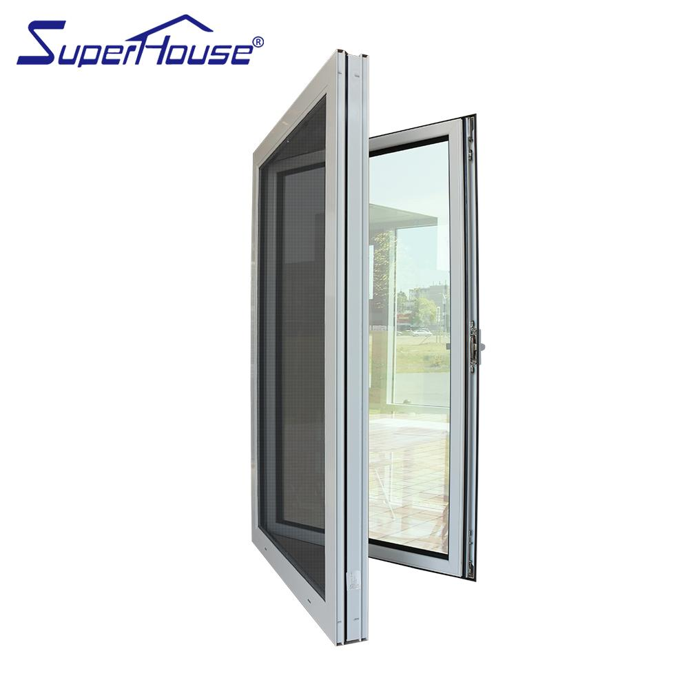 Superhouse 2021UAS Miami DADE standard aluminium tilt and turn window with mosquito screen