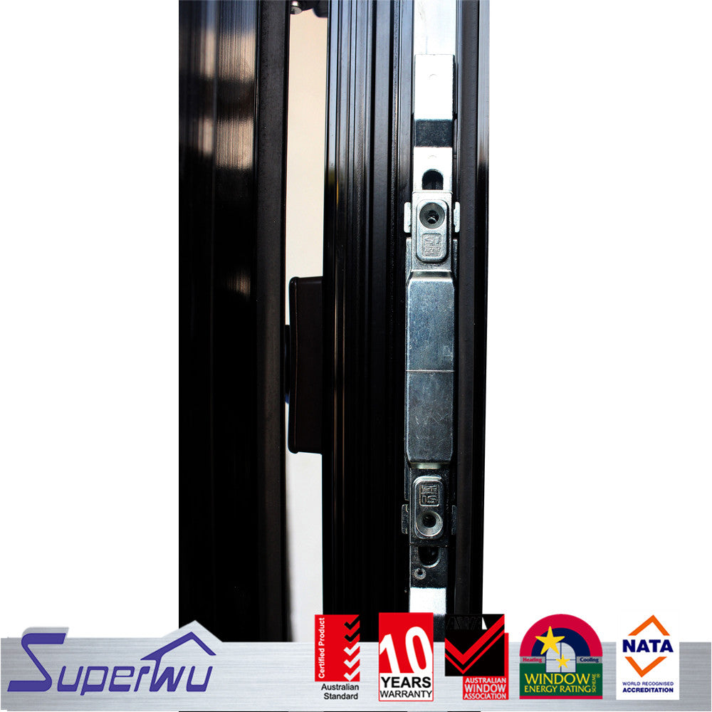 Superwu 2021Customized Design Accordion Doors with Air Aluminium AS2047 Standard Low-e Glass Interior Modern Villa School Industrial Hotel