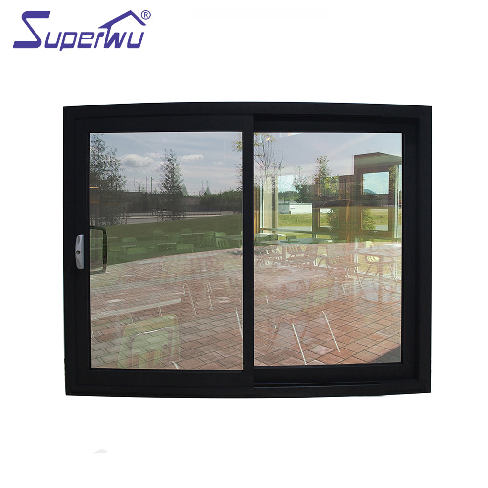 Superwu 2021Meet Florida code standard luxury frosted glass sliding windows with timber reveal