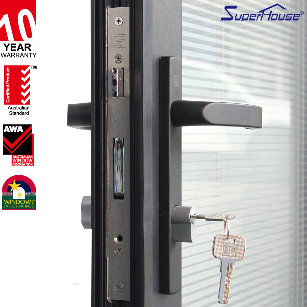 Suerhouse 2021Miami-Dade County Approved blinds insert energy efficient aluminum glass folding door