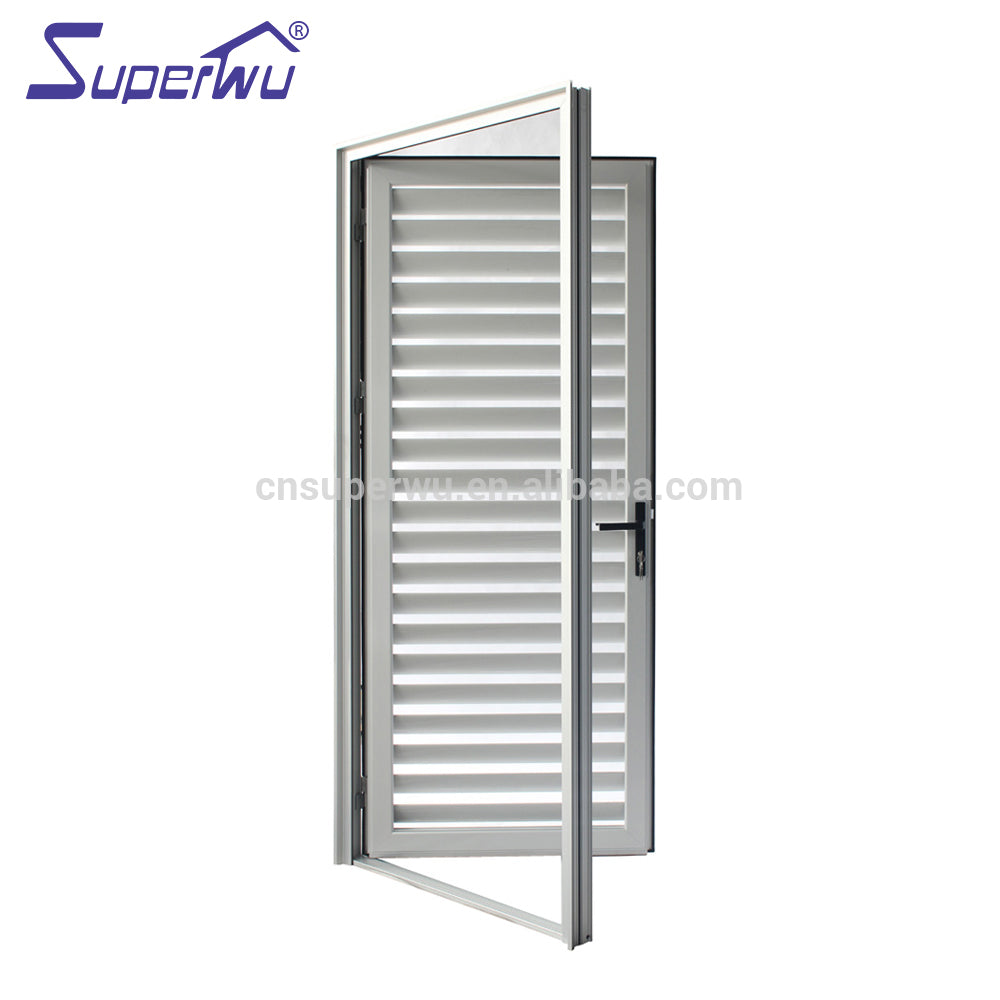 Superwu 2021Anodized aluminium louvre hinged door for sun shade