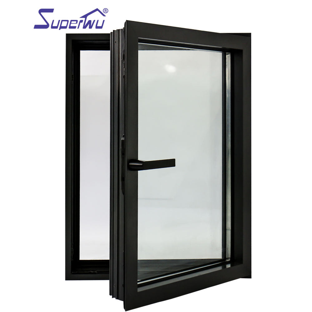 Superwu 2021Aluminum double glazed casement window Soundproof Australia standard AS 2047