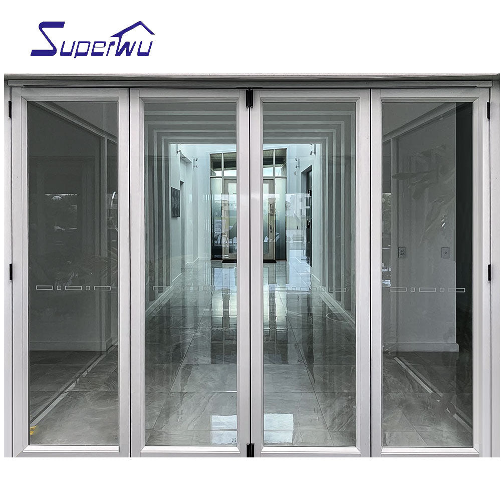Superwu 2021china manufacture french double seal-ing aluminium folding patio doors prices
