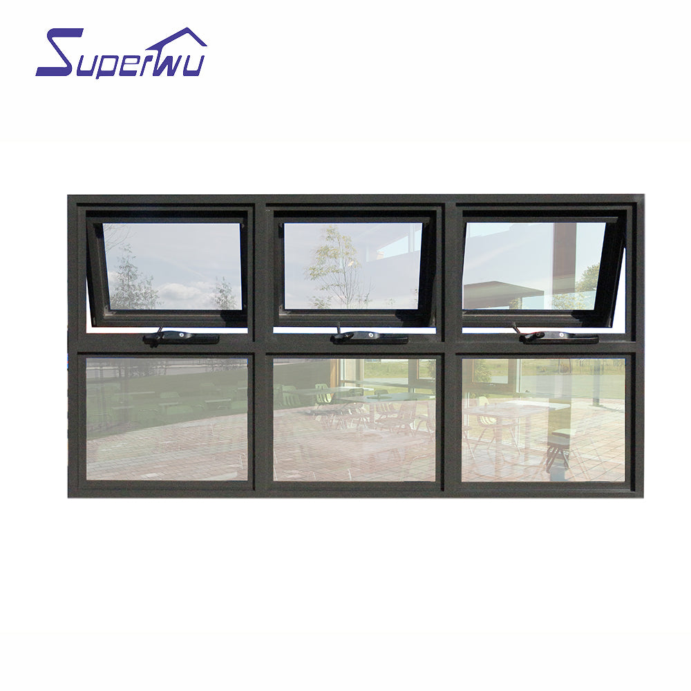 Superwu 2021High Quality Product Soundproof Aluminum Glass Windows Awning Window