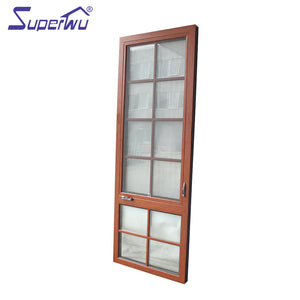 Superwu 2021NFRC impact frame glass thermal break aluminum casement windows