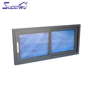 Superwu 2021Sliding patio windows commercial glass windows heavy duty best quality factory directly cheap price supply