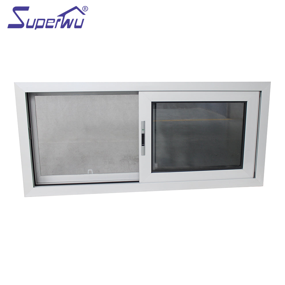 Superwu 2021cost-effective double glazed clear impact glass aluminum sliding windows