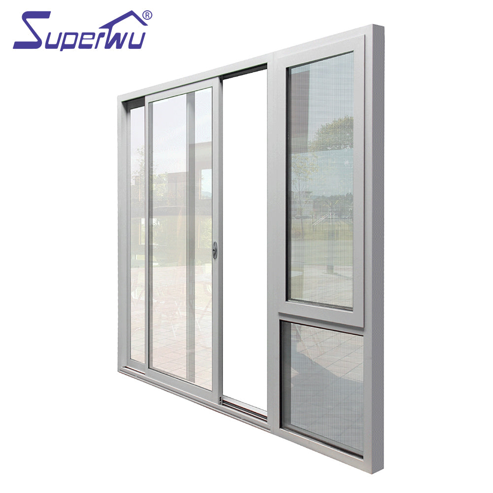 Superwu 2021USA standard hurricane proof impact commercial sliding doors for sale