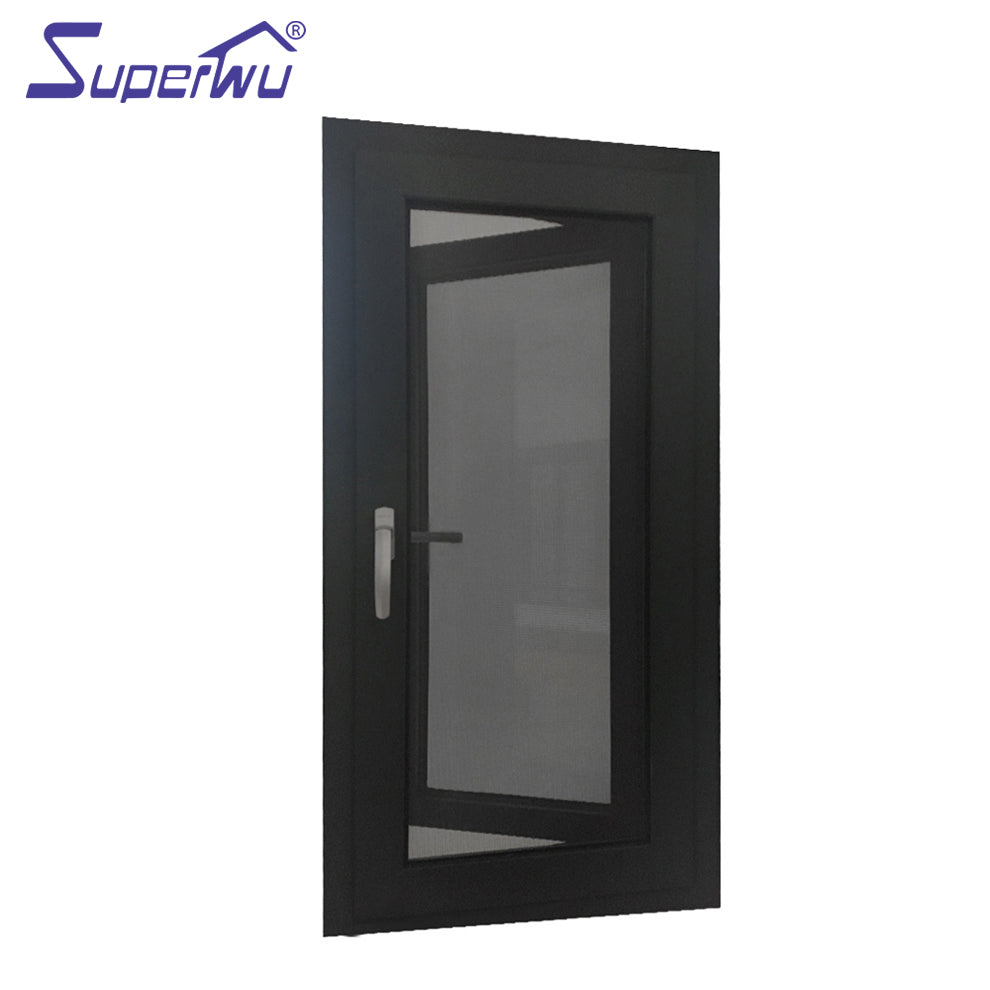 Superwu 2021wooden color thermal break aluminium casement windows
