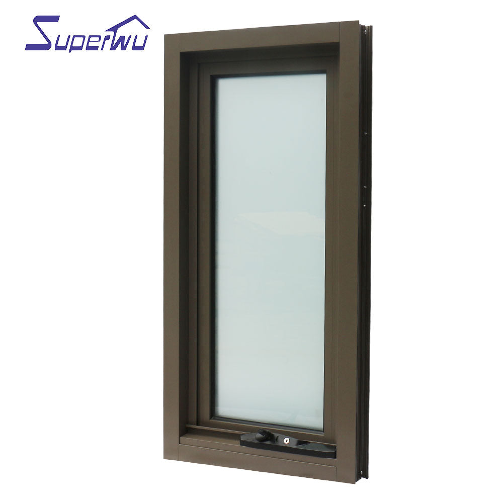 Superwu 2021Hurricane proof Hollow glass aluminum profile outswing Awning windows