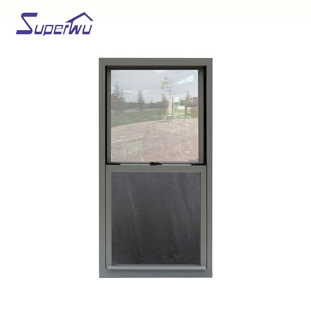 Superwu 2021Customized sliding windows door system Double glass hurricane impact aluminium sliding window