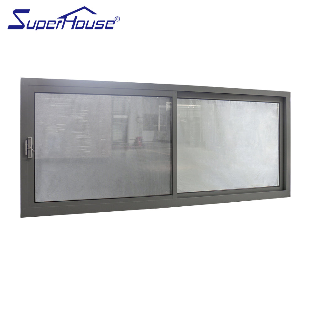 Superhouse 2021China supplier latest sliding window design aluminum framed tempered glass sliding window