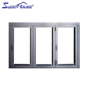 Superwu 2021Sound insulation, waterproof and heat insulation Aluminum Luxury Partition Wall Lowes Glass Interior Folding Doors